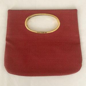 RARE Vintage Missoni Woven Leather Tote Clutch